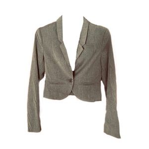MAKE AN OFFER  Cropped Gray Sleek Jacket